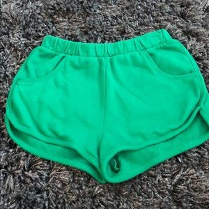 Chloe&Katie green terry/cotton shorts Small